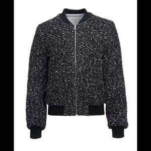 alice + olivia Lonnie bomber jacket reversible